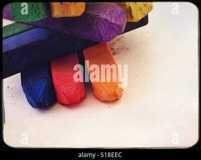 Artiste colorés pastels Banque D'Images