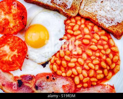 Le petit déjeuner anglais frit Banque D'Images