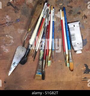 Outils de l'artiste prêt à créer. Banque D'Images