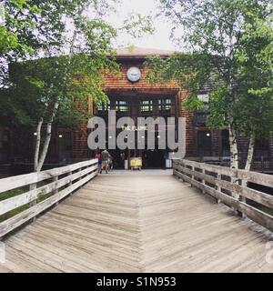 La Flume Gorge Visitors Centre, Franconia Notch State Park, New Hampshire, United States Banque D'Images