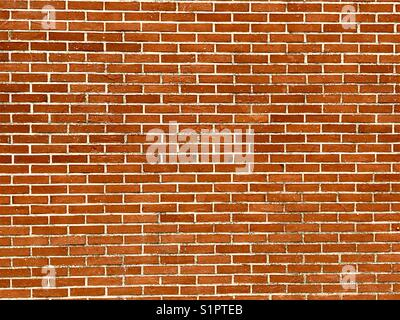 Le mur de briques rouges en arrière-plan Banque D'Images