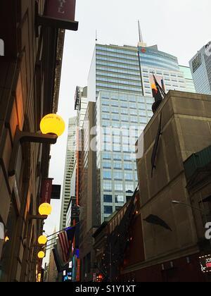 Time Square et le vieux New York Times Building sur 43e St., NEW YORK Banque D'Images