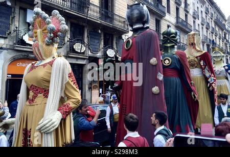 Parade à La Rambla. Barcelona Banque D'Images