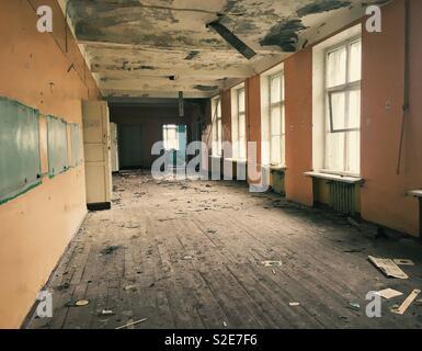 École abandonnée Banque D'Images