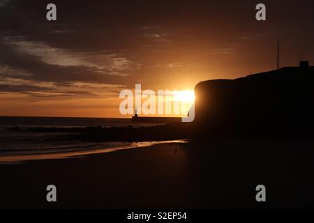 Tynemouth lever du soleil Banque D'Images