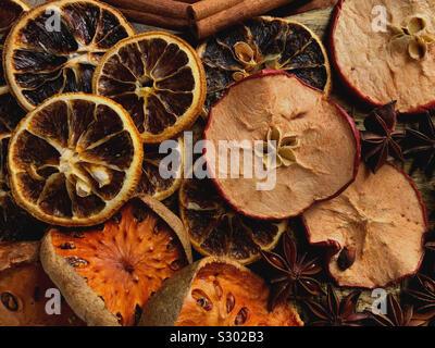 Portrait de divers fruits secs Banque D'Images