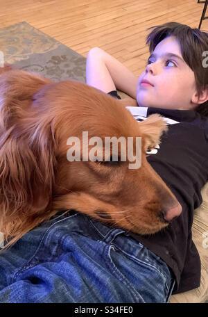 Le meilleur ami d'un chien Banque D'Images