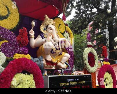 Ganesh festival à Pune City, Inde. Banque D'Images