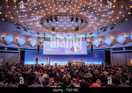 Berlin, Allemagne. Mar 16, 2019. Paul Ziemiak, Secrétaire général de la CDU, s'exprime à l'extraordinaire Allemagne Jour de la jeune Union européenne. Crédit: Michael Kappeler/dpa/Alamy Live News