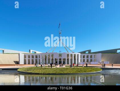 Nouveau Parlement House, Canberra, Territoire de la capitale australienne, Australie Banque D'Images