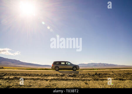 Un road-trip à travers l'Ouest des Etats-Unis. Cette image a été abattu près de la vallée de la mort. Banque D'Images