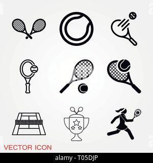 Le symbole vecteur icône tennis pour la conception Banque D'Images