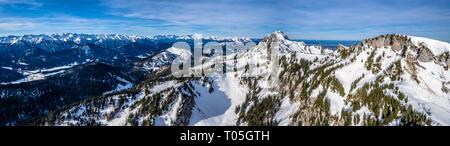 Brauneck aérienne ski Idealhang Stialm montagne près de Augsburg - Allemagne alpes Banque D'Images