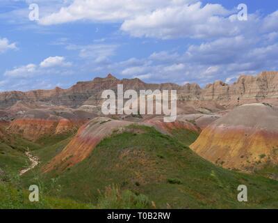 De belles couleurs et de paysage à couper le souffle à Badlands National Park (Dakota du Sud, USA. Banque D'Images