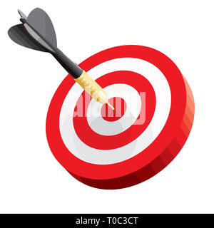 Leadership objectif réalisation bullseye tir à l'arc cible parfaite illustration Banque D'Images