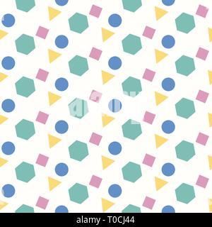 Motif géométrique, fond rond, carré, triangle, hexagone, seamless, vector eps10 Banque D'Images