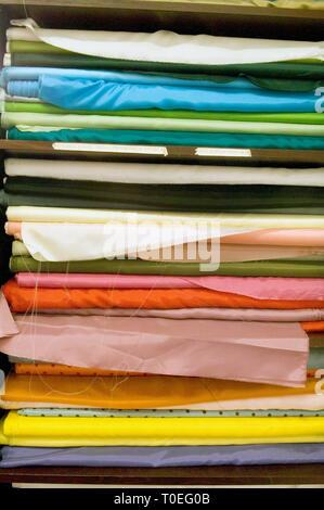 Macculloch & Wallis un tissu boutique à Soho, Londres Banque D'Images