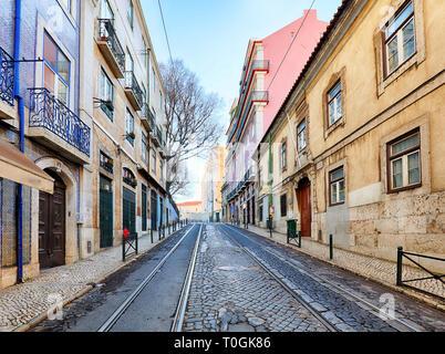Rue de Lisbonne, Alfama, personne ne Banque D'Images