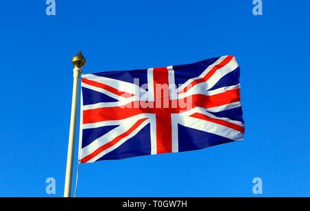 Union Jack, drapeau du Royaume-Uni, les drapeaux nationaux, GO, Grande-Bretagne, Royaume-Uni Banque D'Images