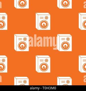 Haut-parleurs Studio vector pattern orange Banque D'Images