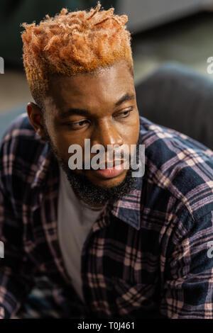 Portrait d'une African American man Banque D'Images