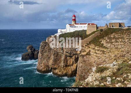 Phare de Cabo de Sao Vicente, près de Sarges Algarve, Faro, Portugal