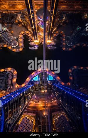Une vue en perspective de la Marina de Dubaï, DUBAÏ, ÉMIRATS ARABES UNIS