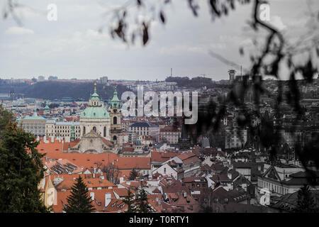 Ville de Prague, belle architecture de Prague. paysage 14 Mars 2019 Banque D'Images