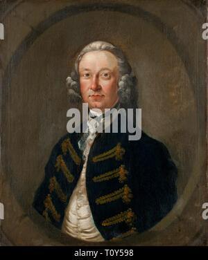 Portrait de Richard Owen, c1748-1750. Richard Owen de Ynysymaengwyn était High Sheriff de Merioneth en 1756-7 Banque D'Images