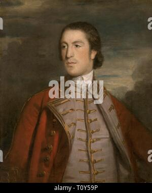 Moreton Thomas Reynolds, 2e Seigneur Ducie de Tortworth Court (1733-1785), c1758. Servi dans le 10e et le 3e Dragons Dragoon Guards et fut promu lieutenant-colonel dans la Coldstream Guards à partir de 1762-1771. En 1770 il hérita de la Baronnie de Ducie de son oncle. Banque D'Images