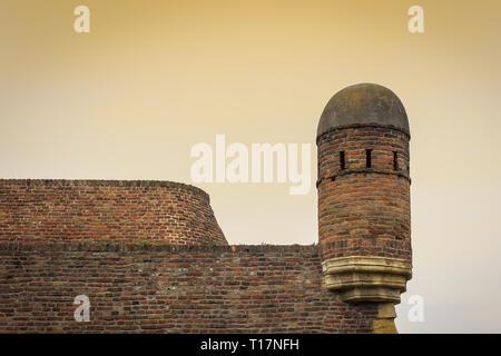 Close up détails de la célèbre forteresse de Belgrade en Serbie Kalemegdan pendant la golden hour Banque D'Images