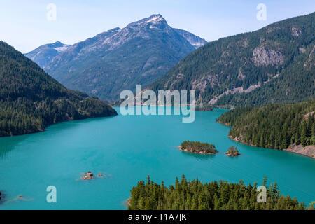 Diablo Lake dans l'État de Washington Banque D'Images