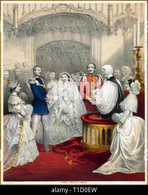 Mariage du Roi Frédéric-guillaume de Prusse et de la reine Victoria, 1858 Banque D'Images