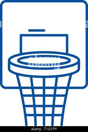 L'icône La Concept Ball Ligne De Du Basket Panier Qsthdr