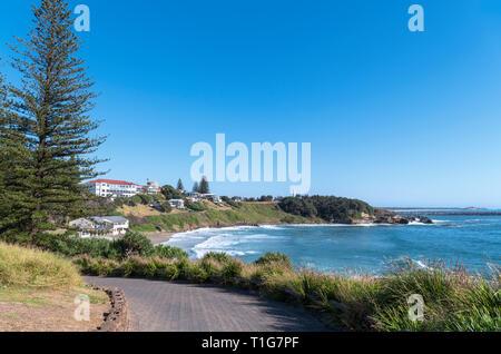 La plage principale à l'égard Yamba Yamba, Phare, New South Wales, Australie