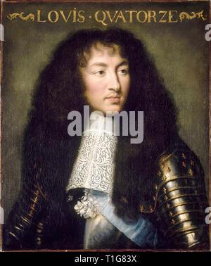 Louis XIV, roi de France et de Navarre (1638-1715), portrait, peinture de Charles Le Brun, c. 1662 Banque D'Images