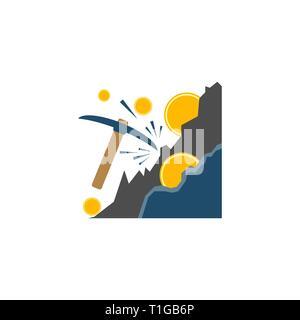 Concept d'exploitation minière. Concept de l'exploitation minière l'icône vecteur télévision isolé sur fond blanc. Banque D'Images