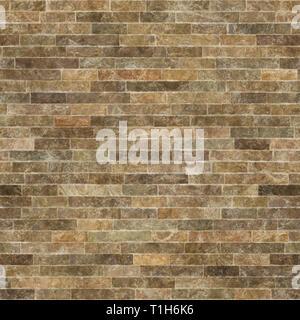 Un fragment des murs de la chambre sont recouverts de carreaux de céramique qui imitent la pierre naturelle. Banque D'Images