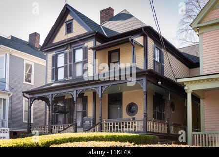 Maison natale de Dr. Martin Luther King, Jr. sur Auburn Avenue, à Atlanta, Géorgie. (USA)