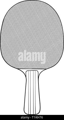 Raquette de tennis de table. Hand drawn Banque D'Images