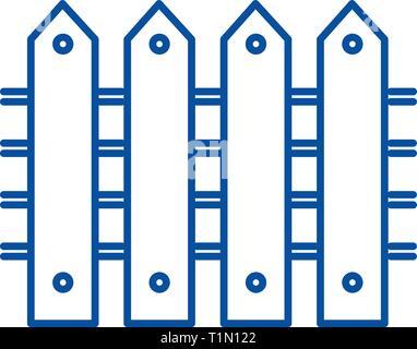 L'icône de la ligne de clôture concept. Télévision clôture, signe, symbole vecteur illustration contour. Banque D'Images