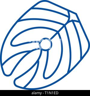 Filet de poisson icône ligne concept. Filet de poisson symbole vecteur télévision, signe, contours illustration. Banque D'Images