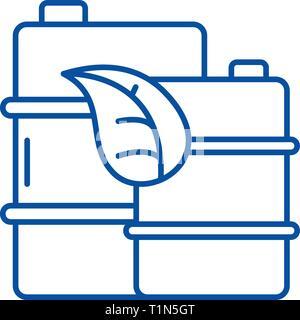 L'icône de la ligne du carburant de haute qualité concept. Du carburant de haute qualité télévision, signe, symbole vecteur illustration contour. Banque D'Images