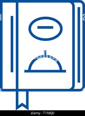 L'icône de la ligne du midi,Menu concept. Télévision, déjeuner Menu vector symbole, signe, contours illustration.