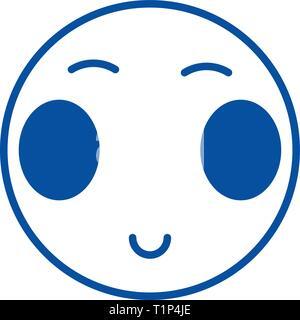 Ouvrir les yeux japonais l'icône de la ligne emoji concept. Ouvrir les yeux japonais télévision emoji, signe, symbole vecteur illustration contour.