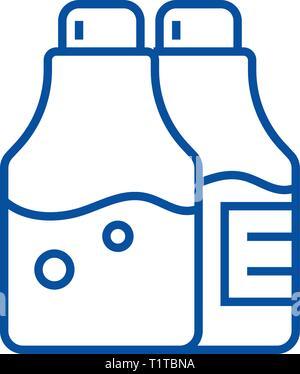 L'assaisonnement de sel et poivre,icône ligne concept. L'assaisonnement de sel et poivre,télévision, signe, symbole vecteur illustration contour. Banque D'Images