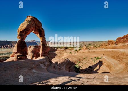 Delicate Arch dans Arches National Park, Moab, Utah, USA, Amérique du Nord Banque D'Images
