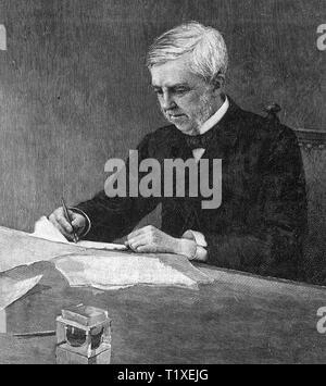 OLIVER WENDELL HOLMES Sr (1809-1894) médecin américain poète et auteur Banque D'Images