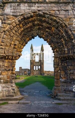 Vue des ruines de la cathédrale de St Andrews St Andrews, Fife, Scotland, UK