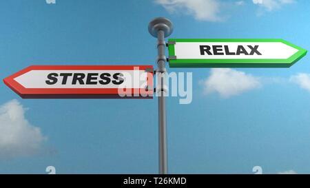 Le stress - Détente des plaques de rue - le rendu 3D illustration Banque D'Images